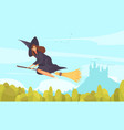 fairy tale witch background vector image vector image