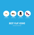 flat icon clothes set of heeled shoe male vector image vector image
