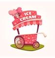 flat of Ice Cream cart vector image vector image