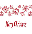 for christmas with red snowflakes and vector image vector image