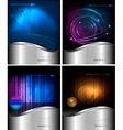 four abstract technology and business backgrounds vector image