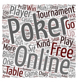 free online poker 1 text background wordcloud vector image vector image