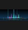 futuristic neon cityscape modern vector image