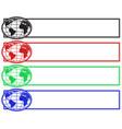 globe banner set vector image