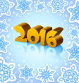 Golden year 2016 on blue background vector image vector image