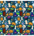 Halloween seamless funny background vector image