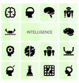 intelligence icons vector image vector image
