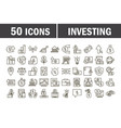 investing business financial economy money icons vector image vector image