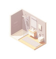 isometric small bathroom interior vector image vector image