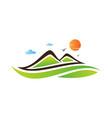 landscape mountaine vector image vector image