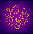 mardi gras lettering consist of gold beads on dark vector image