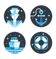 marine icon set vector image