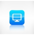 Monitor web icon Computer display vector image vector image