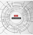 monochrome round tech background vector image vector image