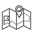 navigation map line icon sig vector image