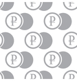 New Rouble coin seamless pattern vector image vector image