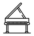 open grand piano icon outline style vector image vector image