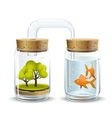 Oxygen for fish vector image vector image