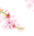 Painted watercolor card with orchid vector image vector image