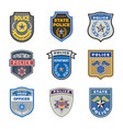 police shield government agent badges and police vector image