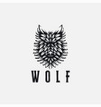 powerful nature head wolf logo vector image