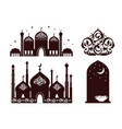ramadan mosques collection vector image vector image