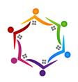 Real estate teamwork people logo vector image vector image