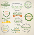 Retro styled organic labels vector | Price: 3 Credits (USD $3)