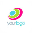 round color loop logo vector image vector image