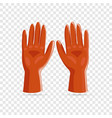 rubber gloves icon realistic style vector image vector image