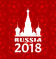 russia poster with red pattern vector image vector image