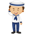 Sailor in white and blue outfit vector image vector image