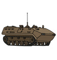 Sand track troop carrier vector image vector image