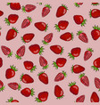 seamless pattern red strawberry berries on a vector image