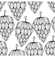 seamless pattern with funky cones vector image
