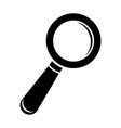 search or find icon black silhouette isolated vector image