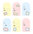 set hand drawn post stamps gift tags vector image vector image