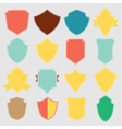 Set of color shield retro vintage badges and label vector image vector image