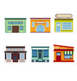 set of icons of fast food on white background vector image vector image