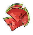 slice of watermelon on white background il vector image