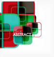 square geometric abstract background paper art vector image vector image