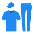 T-shirt pants and baseball cap design templates vector image