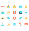 travel icons set simple minimal 96x96 pictogram vector image vector image