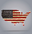 usa flag map on old rustic timber cutout vector image vector image