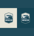 vintage car logo template vector image vector image