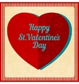 Vintage Valentines Day background vector image