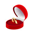 wedding ring realistic composition vector image