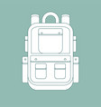 simple icon with a backpack on a background vector image