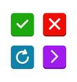 check delete or close refresh arrow icons set vector image