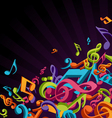 colorful music notes vector image